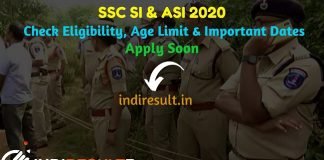 SSC SI & ASI 2020 Recruitment SSC SI & ASI Notification 2020 - Staff Selection Commission has released the tentative vacancy details for SSC SI & ASI 2020 Notification on its official website ssc.nic.in. Check SSC SI & ASI Eligibility Criteria, Age Limit, Educational Qualification, Syllabus, Exam Pattern, Selection Process & Important Dates.