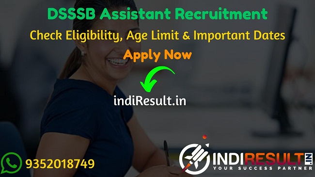DSSSB Assistant Recruitment 2020 - Check DSSSB Laboratory Assistant, Technician, Driver & Store Keeper Vacancy Notification 2020, Eligibility Criteria, Age Limit, Educational Qualification and DSSSB Scientific Assistant & Assistant Recruitment 2020 Selection process. Delhi Subordinate Services Selection Board DSSSB invites Online application to fill 256 vacancy of Lab Assistant & Technician Posts. This is a great opportunity for the applicants who are searching for Govt Jobs in Delhi.