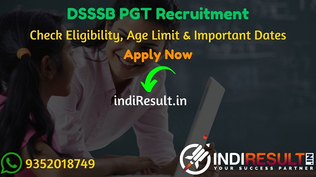 DSSSB PGT Recruitment 2020 - Check DSSSB PGT 2020 Vacancy DSSSB 710 PGT Teacher & EVGC Recruitment Notification 2020, Eligibility Criteria, Age Limit, Educational Qualification and DSSSB PGT Teacher Recruitment 2020 Selection process. Delhi Subordinate Services Selection Board DSSSB invites Online application to fill 710 vacancy of PGT & EVGC Posts. This is a great opportunity for the applicants who are searching for Govt Jobs in Delhi.