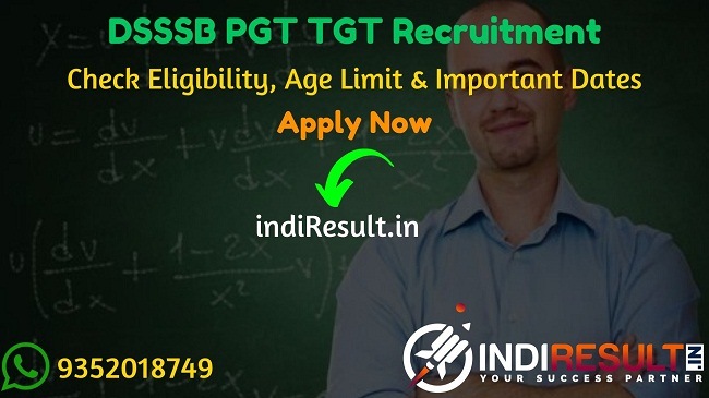 DSSSB PGT TGT Recruitment 2020 – Check DSSSB PGT TGT Vacancy DSSSB 3552 PGT TGT Teacher Recruitment Notification 2020, Eligibility Criteria, Age Limit, Educational Qualification and DSSSB PGT TGT Teacher Recruitment 2020 Selection process. Delhi Subordinate Services Selection Board DSSSB invites Online application to fill 3552 vacancy of PGT TGT Posts. This is a great opportunity for the applicants who are searching for Govt Jobs in Delhi.