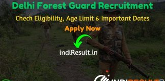 Delhi Forest Guard Recruitment 2020 - Check Delhi Forest Department Forest Guard Notification, Eligibility Criteria, Age Limit, Educational Qualification and selection process. The Department of Forest, Government of Delhi invites online application to fill 226 vacancy of Delhi Forest Ranger, Forest Guard & Wildlife Guard posts. The Delhi Forest Department published Delhi Forest Guard Notification. This is a great opportunity for the applicants who are searching for Govt Jobs in Delhi.