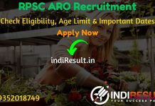 RPSC ARO Recruitment 2020 - Check RPSC Rajasthan Agriculture Research Officer Recruitment Eligibility Criteria, Age Limit, Educational Qualification and selection process. Rajasthan Public Service Commission RPSC invites online application to fill 24 vacancy of ARO Agriculture Research Officer posts. This is a great opportunity for the applicants who are searching for Govt Jobs in Rajasthan.