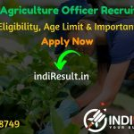 RPSC Agriculture Officer Recruitment 2020 - Check RPSC Rajasthan AO Recruitment Eligibility Criteria, Age Limit, Educational Qualification and selection process. Rajasthan Public Service Commission RPSC invites online application to fill 97 vacancy of Agriculture Officer AO posts.