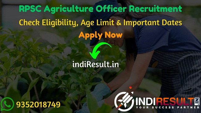 RPSC Agriculture Officer Recruitment 2020 - Check RPSC Rajasthan AO Recruitment Eligibility Criteria, Age Limit, Educational Qualification and selection process. Rajasthan Public Service Commission RPSC invites online application to fill 63 vacancy of Agriculture Officer AO posts. This is a great opportunity for the applicants who are searching for Govt Jobs in Rajasthan.
