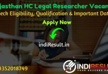 Rajasthan High Court Legal Researcher Recruitment 2020 - Check Rajasthan High Court Legal Researcher Notification, Eligibility Criteria, Age Limit, Educational Qualification and selection process. The Rajasthan High Court HCRAJ invites online application to fill 50 vacancy of Legal Researcher posts. This is a great opportunity for the applicants who are searching for Govt Jobs in Rajasthan.