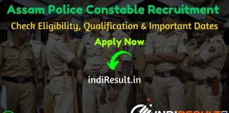 Assam Police Constable Recruitment 2020 - Check Assam Police Constable Notification, Eligibility Criteria, Age Limit, Educational Qualification and Selection process. State Level Police Recruitment Board, Assam invited online application to fill 1269 vacancy of Constables (Communication/ Messenger /Carpenter /UB) in Apro and Sub-Officer, Firemen & Emergency Rescuers in Fire & Emergency Services, Assam.