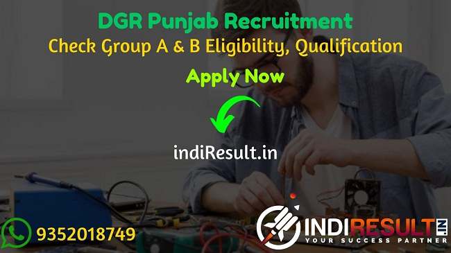 DGR Punjab Technical Assistant Recruitment 2020 - Check DGR Punjab Technical Assistant Notification, Eligibility Criteria, Age Limit, Educational Qualification and selection process. The Department of Governance Reforms & Public Grievances Government of Punjab, DGR Punjab invites online application to fill 324 vacancy of Technical Assistant, Assistant Manager, Senior System Manager, and System Manager posts.