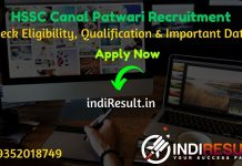 HSSC Haryana Canal Patwari Recruitment 2021 - Apply Haryana HSSC 1100 Canal Patwari Vacancy Notification, HSSC Canal Patwari Eligibility Criteria, Salary.
