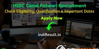 Haryana HSSC Canal Patwari Recruitment 2020 HSSC 1100 Canal Patwari Bharti 2020 – Check Haryana Staff Selection Commission HSSC Canal Patwari Bharti Notification, Eligibility Criteria, Age Limit, Educational Qualification and selection process. HSSC Canal Patwari Vacancy 2020 Notification is released. And this HSSC Canal Patwari Notification for the 1100 Canal Patwari Posts.This is a great opportunity for the applicants who are searching for Govt Jobs in Haryana.