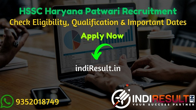 Haryana HSSC Patwari Recruitment 2020 HSSC 588 Patwari Bharti 2020 – Check Haryana Staff Selection Commission HSSC Patwari Bharti Notification, Eligibility Criteria, Age Limit, Educational Qualification and selection process. HSSC Patwari Vacancy 2020 Notification is released. And this HSSC Patwari Notification for the 588 Patwari Posts.This is a great opportunity for the applicants who are searching for Govt Jobs in Haryana.