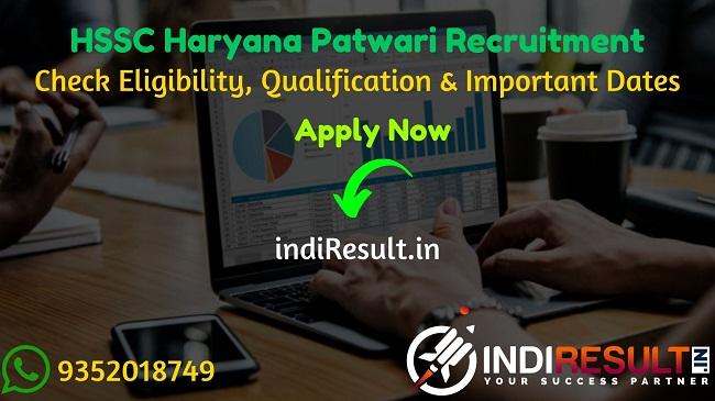HSSC Haryana Patwari Recruitment 2021- Apply HSSC Haryana 588 Patwari Vacancy Notification, HSSC Patwari Eligibility Criteria, Salary,Age Limit,hssc.gov.in