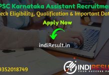 KPSC Assistant Recruitment 2020 - Check Karnataka KPSC Assistant Vacancy Notification, Eligibility Criteria, Age Limit, Educational Qualification and KPSC Assistant 2020 Selection process. Karnataka Public Service Commission KPSC invites Online application to fill 975 vacancy of KPSC Assistant Posts. This is a great opportunity for the applicants who are searching for Govt Jobs in Karnataka.