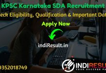 KPSC SDA Recruitment 2020 - Check Karnataka KPSC Second Division Assistant Vacancy Notification, Eligibility Criteria, Age Limit, Educational Qualification and KPSC SDA Selection process. Karnataka Public Service Commission KPSC invites Online application to fill 1279 vacancy of KPSC Junior Assistant/Second Division Assistant Posts.
