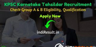 KPSC Tahsildar Recruitment 2020 - Check Karnataka KPSC Tahsildar Vacancy Notification, Eligibility Criteria, Age Limit, Educational Qualification and KPSC Tahsildar Grade II Recruitment 2020 Selection process. Karnataka Public Service Commission KPSC invites Online application to fill 106 vacancy of KPSC Tahsildar & Other Posts. This is a great opportunity for the applicants who are searching for Govt Jobs in Karnataka.