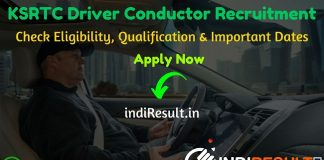 KSRTC Driver Conductor Recruitment 2020 - Check KSRTC Driver Conductor Notification, Eligibility Criteria, Age Limit, Educational Qualification and selection process. Karnataka State Road Transport Corporation KSRTC invites online application to fill KSRTC 3745 Driver Conductor Vacancy posts. Out of total, 1200 vacancies are for KSRTC Driver Recruitment 2020 and 2545 are for KSRTC Conductor Recruitment 2020.
