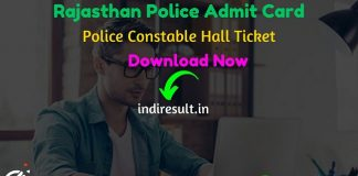 Rajasthan Police Constable Admit Card 2020 - Download Admit Card for Rajasthan Police Constable Exam 2020. Police Recruitment Board Rajasthan published Police Constable Admit Card on official website policeuniversity.ac.in. As per notification Rajasthan Police Constable Exam Date will be held in March 3rd or 4th Week. Applicants who are appearing in the exam may download their Rajasthan Police Constable Admit Card by entering Application No. & DOB and name wise.