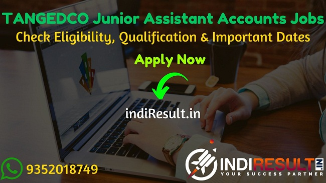TANGEDCO Junior Assistant Accounts Recruitment 2020 - Check TANGEDCO Recruitment Notification, Eligibility Criteria, Age Limit, Educational Qualification and selection process. The Tamil Nadu Generation and Distribution Corporation Limited (TANGEDCO) invites online application to fill 500 Vacancy of Junior Assistant Accounts posts. This is a great opportunity for the applicants who are searching for Govt Jobs in Tamil Nadu.
