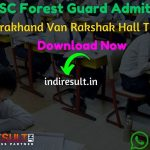 UKSSSC Forest Guard Admit Card 2020 - Download Admit Card for UKSSSC Forest Guard Exam 2020.Get Uttarakhand UKSSSC Forest Guard Aarakshi Admit Card Name Wise Uttarakhand UKSSSC published Forest Guard Admit Card on official website uksssc.in. As per notification UKSSSC Forest Guard Exam Date is 16 February 2020. Applicants who are appearing in the exam may download their UKSSSC Forest Guard Admit Card by entering Application No. & DOB and name wise.