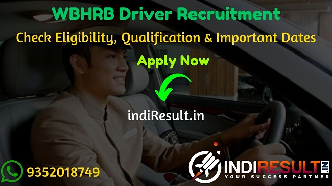 WBHRB Driver Recruitment 2020 - Check WBHRB Driver Bharti Notification, Eligibility Criteria, Age Limit, Educational Qualification and selection process. West Bengal Health Recruitment Board WBHRB invites online application to fill WBHRB 300 Driver vacancy posts. This is a great opportunity for the applicants who are searching for Govt Jobs in West Bengal.