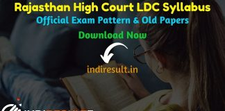 Rajasthan High Court LDC Syllabus 2020 – Check detailed Rajasthan High Court LDC Clerk Official Syllabus and Exam Pattern of written exam. Download Rajasthan High Court Lower Division Clerk LDC Detailed Syllabus Pdf, Important Books & Old Papers Here. High Court Of Rajasthan HCRAJ has released LDC Syllabus & Exam Pattern 2020.