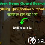 Rajasthan Home Guard Recruitment 2020 - Check Rajasthan 2500 Home Guard Bharti Notification 2020, Eligibility Criteria, Age Limit, Educational Qualification and Rajasthan Home Guard Vacancy 2020 Selection process. Home Guard Department, Rajasthan invites Online application to fill 2500 vacancy of Rajasthan Home Guard Posts. This is a great opportunity for the applicants who are searching for Govt Home Guard Vacancy in Rajasthan.