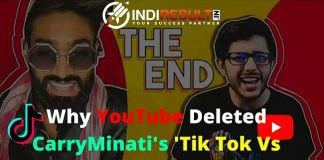 "Why YouTube Deleted CarryMinati's 'Tik Tok Vs YouTube' Video - Carryminati is the One biggest Youtuber in India with 17 million subscribers, Carryminati has landed himself in trouble with his latest video, which was a roast on TikTok ""YouTube Vs Tik Tok - The End"", and people using that platform."