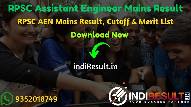 RPSC AEN Mains Result 2021 - Download RPSC Assistant Engineer Mains Result, Cutoff & Merit List 2021. The Result Date Of RPSC AEN Mains Exam February 2021.