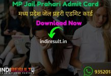 MP Jail Prahari Admit Card 2020 - Download Admit Card of MP Jail Prahari Exam 2020. Madhya Pradesh Vyapam Professional Examination Board published MPPEB Jail Prahari Admit Card Date.