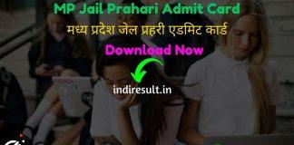 MP Jail Prahari Admit Card 2020 - Download Admit Card of MP Jail Prahari Exam 2020. Madhya Pradesh Vyapam Professional Examination Board published MPPEB Jail Prahari Admit Card Date.
