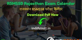 RSMSSB Exam Calendar 2021 Pdf - Get RSMSSB Calendar pdf 2021 & RSMSSB Tentative Exam Dates of Patwari, JEN, Investigator, Pharmacist, Stenographer Exam.