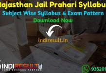 Rajasthan Jail Prahari Syllabus 2021 -Download Rajasthan Jail Warder Syllabus Pdf in Hindi & Rajasthan Jail Prahari Exam Pattern. Raj Prison Warder Syllabus