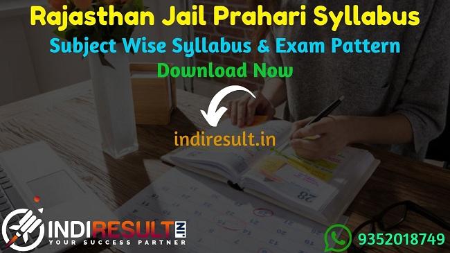 Rajasthan Jail Prahari Syllabus 2021 -Download Rajasthan Jail Warder Syllabus Pdf in Hindi & Rajasthan Jail Prahari Exam Pattern. Raj Prison Warder Syllabus