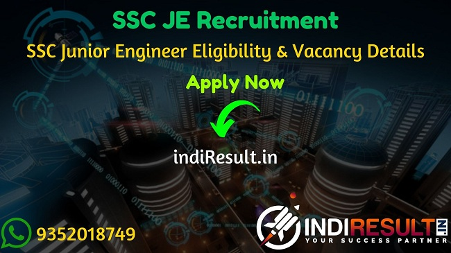 SSC JE 2020 : Staff Selection Commission (SSC) has released recruitment applications for the post of ssc junior engineer JE (Civil, Electrical, Mechanical, and Quantity Surveying and Contracts). Candidates can Download PDF SSC Junior Engineer Notification, Eligibility, Important dates, vacancy details.