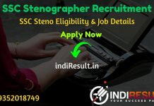 SSC Stenographer Recruitment 2020 SSC Steno 2020 Notification SSC Stenographer Vacancy 2020 Details of SSC Steno Vacancy SSC Stenographer Eligibility