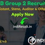 MPPEB Group 2 Recruitment 2020 for Assistant, Jr Assistant, Steno, Auditor & Other Posts - Check MP Vyapam Group 2 Notification, Eligibility Criteria, Salary, Age Limit, Educational Qualification and Selection process.