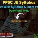 PPSC JE Syllabus 2021 - Download Punjab PPSC Junior Engineer Syllabus Pdf & PPSC JE Civil, Mechanical, Electrical Exam Pattern.PPSC Syllabus Pdf of JE Exam