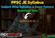 PPSC JE Syllabus 2021 - Download Punjab PPSC Junior Engineer Syllabus Pdf & PPSC JE Civil, Mechanical, Electrical Exam Pattern.PPSC Syllabus Pdf of JE Exam
