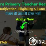 Punjab Pre Primary Teacher Recruitment 2021 - Apply Punjab 8393 Pre Primary Teacher Vacancy Notification, Eligibility Criteria, Salary, Age Limit, Last Date