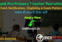Punjab Pre Primary Teacher Recruitment 2020 - Check Punjab 8393 Pre Primary Teacher Vacancy Notification, Eligibility Criteria, Salary, Age Limit, Educational Qualification and Selection process. School Education Department, Government of Punjab released notification for 8393 Pre Primary Teacher Vacancy on educationrecruitmentboard.com.