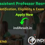 RPSC Assistant Professor Recruitment 2020 – Check RPSC Rajasthan Assistant Professor Vacancy Notification, Eligibility Criteria, Age Limit, Salary, Educational Qualification, Selection process & Important Dates.