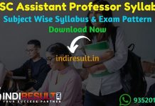 RPSC Assistant Professor Syllabus 2021 - Check RPSC Rajasthan Assistant Professor Syllabus Pdf Download in Hindi/English,RPSC Asst Professor Exam Pattern.