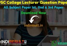 RPSC College Lecturer Previous Question Papers – Download Previous Year Question Papers of RPSC Rajasthan College Lecturer Exam. indiResult.in provide RPSC College Lecturer Previous Year Question Papers Old Papers with Answer, Solution Pdf here.