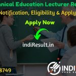 RPSC Technical Lecturer Recruitment 2020 - Check RPSC Rajasthan Technical Lecturer Vacancy Notification, Eligibility Criteria, Salary, Age Limit, Educational Qualification and selection process.