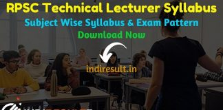RPSC Technical Lecturer Syllabus 2020 - Check RPSC Rajasthan Technical Lecturer Syllabus,Exam Pattern,Subject Wise Detailed Syllabus in Hindi & English pdf. Download RPSC Syllabus Pdf of Technical Lecturer Exam, Important Books & Old Papers Here.