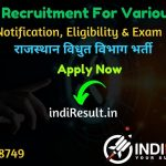 RVUNL Recruitment 2020 - Rajasthan Rajya Vidyut Utpadan Nigam Ltd published recruitment notification for JEN , PA, Junior Accountant, Junior Assistant/Commercial Assistant, IA, Steno, AEN, Chemist, JPA, Technical Helper, Helper 2nd and other posts.