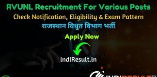 RVUNL Recruitment 2020 - Rajasthan Rajya Vidyut Utpadan Nigam Ltd published recruitment notification for JEN , PA, Junior Accountant, Junior Assistant/Commercial Assistant, IA, Steno, AEN, Chemist, JPA, Technical Helper, Helper 2nd and other posts.