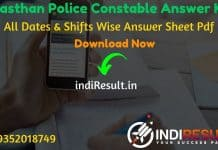 Rajasthan Police Constable Answer Key 2020 - Police Recruitment Board Rajasthan has released Answer Key of Rajasthan Police Constable Exam 2020.
