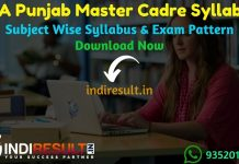 SSA Punjab PSEB Master Cadre Syllabus 2020 - Check PSEB ssapunjab.org syllabus of master cadre teacher, Exam Pattern,Subject Wise Detailed Syllabus in Hindi & English pdf. Download SSA Punjab Syllabus Of Master Cadre Teacher Exam,