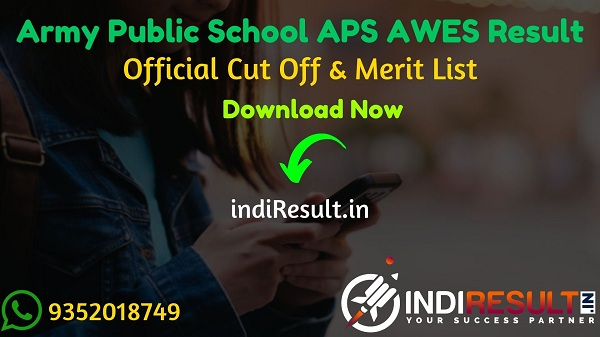 APS AWES Result 2020 - Army Public School (APS) release result of APS AWES exam for PGT/TGT/PRT Teacher Posts. As per official APS AWES CSB Result 2020 released on 02 December 2020.