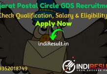 Gujarat Postal Circle GDS Recruitment 2021 - Check Gujarat Post Office GDS Notification, Salary, Eligibility Criteria, Age Limit, Educational Qualification and Selection process. Postal Circle Gujarat invites online application to fill 1856 vacancies of Gramin Dak Sevak Posts.
